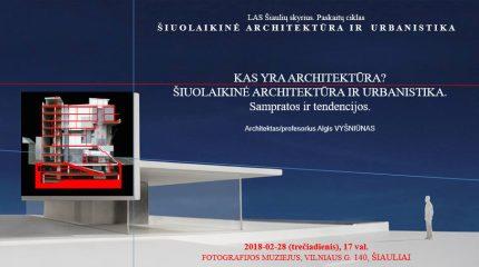 Šiuolaikinė architektūra ir urbanistika