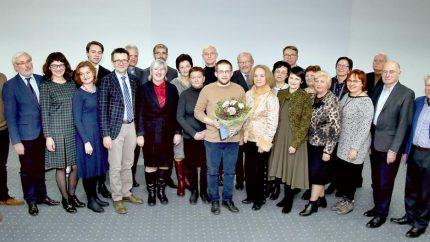 Džiaugiamės kolegos Giedriaus Gaidamavičiaus apdovanojimu – Šiaulių UNESCO klubo premija už perspektyvią mokslinę ir kultūrinę veiklą. SVEIKINAME!