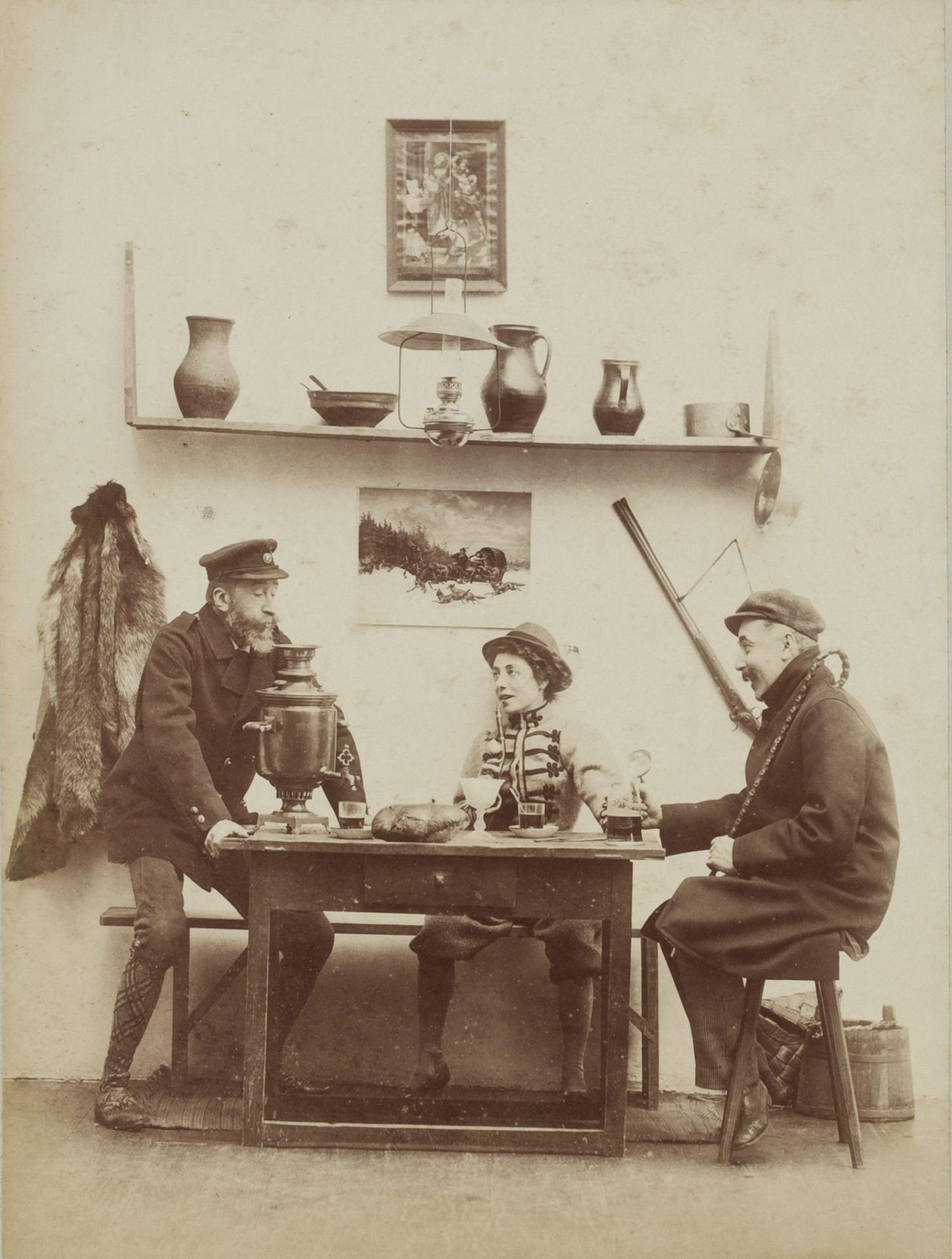 """Benediktas Henrikas Tiškevičius. """"Samovaro velnias"""". Viala, 1897 m. rugsėjis. Petraičių šeimos archyvo nuotrauka"""